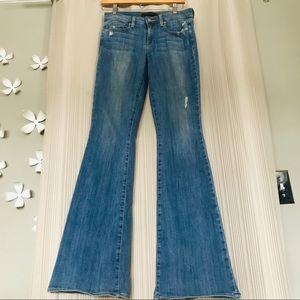 Genetic denim Flare Jeans mid rise medium wash